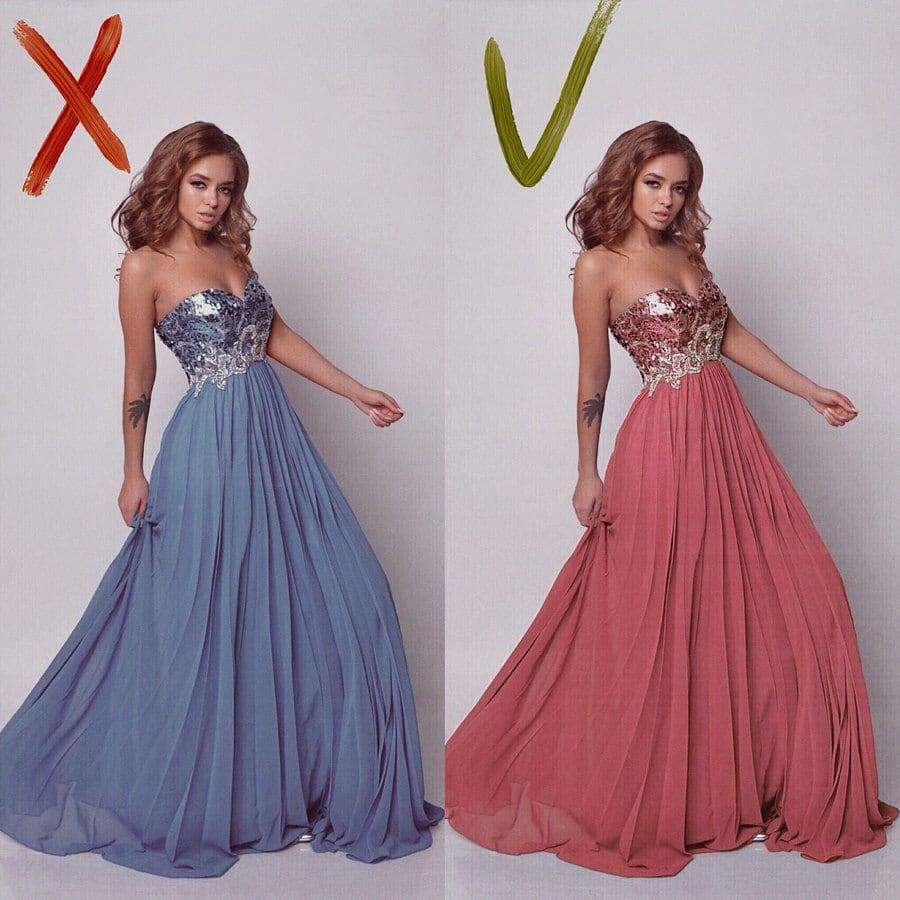 @dominic__ana изменила в Enlight цвет платья